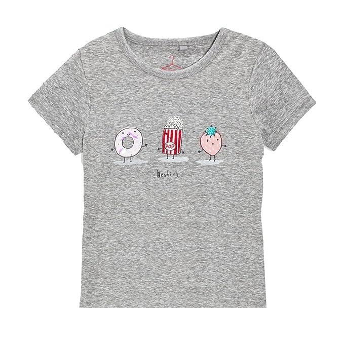 2b09bc50 Khanomak Women's Kids Girls Short Sleeve 100% Cotton Graphic Besties Crew  Neck T-Shirts