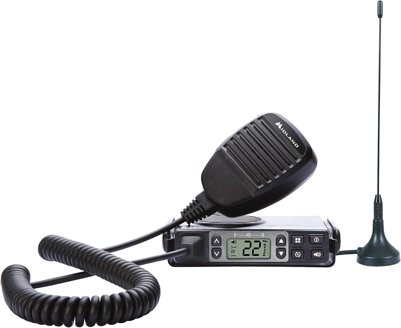 Midland - MXT105, 5 Watt GMRS MicroMobile Two-Way Radio - Up to 40 Mile Range Walkie Talkie, 142 Privacy Codes, NOAA Weather Scan + Alert (Single Pack) (Black)