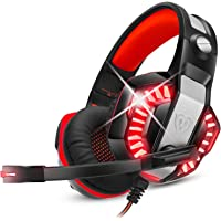 ENVEL Gaming Headset for PS4 with Mic,PC,Xbox One,Laptop,Surround Sound Over Ear Noise Cancelling Headphone with LED…