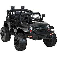 Rigo Kids Ride on Car Remote Control Car Jeep 12V Electric Toy Car Black