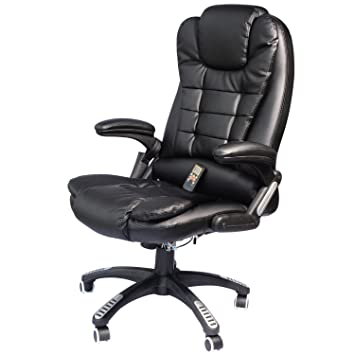 Delightful Amazon.com: HOMCOM High Back Executive Ergonomic PU Leather Heated  Vibrating Massage Office Chair   Black: Kitchen U0026 Dining
