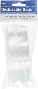Darice 1115-06PolyRe-Closable Bags, 1.5x1.5-Inch, 100 Piece