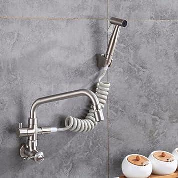 Hlluya Wasserhahn für Waschbecken Küche Die Wand sowohl mit ...
