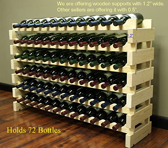 Amazoncom Stackable Modular Wine Rack Stackable Storage Stand
