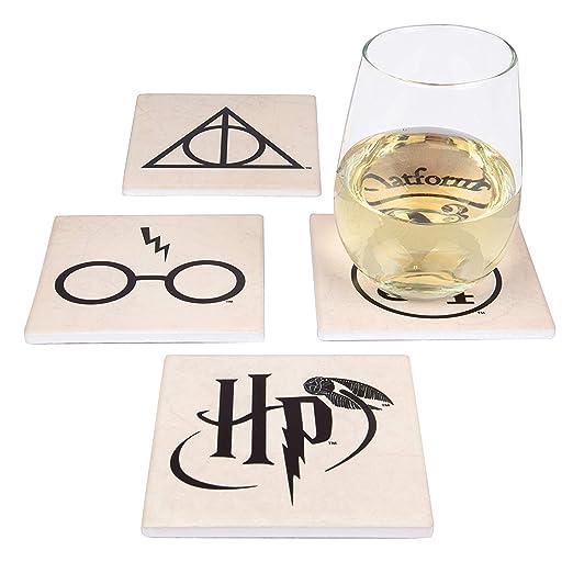 Posavasos de cerámica Harry Potter, juego de 4 posavasos ...