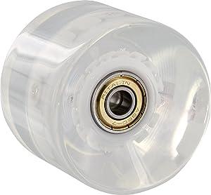 Yocaher Lighting Led Wheel 60mm Clear W Red Led Skate Wheels
