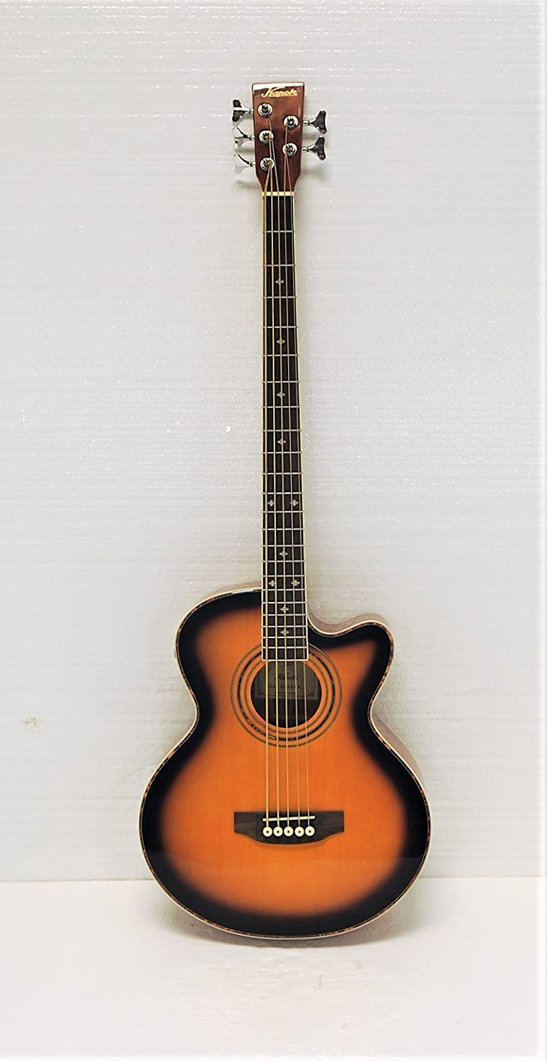 5 String Cutaway Acoustic Electric Bass, Sunburst Top Kapok KAB-165F-SB