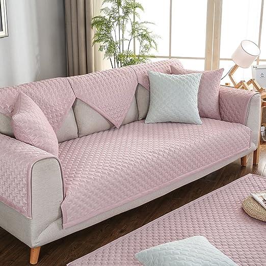 SAFAJINHH Funda de sofá,Color sólido Telas Protector para ...