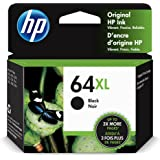 Original HP 64XL Black High-yield Ink Cartridge | Works with HP ENVY Photo 6200, 7100, 7800 Series | Eligible for Instant Ink