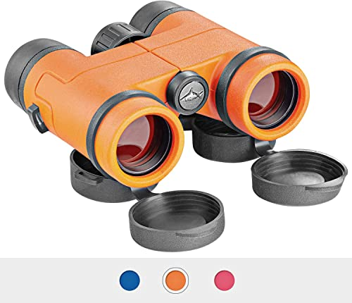 Best Compact Waterproof Shock Proof Binoculars for Kids- Toys Gift for 3-12 Year Old Boys and Girls Orange