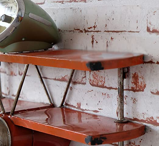22 80cm Wandregale GJbgj Wandhalterung Regal Wand-Regal f/ünf Etagen Metall Eisen Holz Regal Schlafzimmer B/ücherregal Lagerregal Retro Wand Storage Board Wohnzimmer Wand Dekoration 100