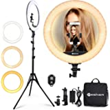 Ring Light 18 Inch 65W LED Ringlight Kit with Tripod Stand with Phone Holder Adjustable Color Temperature Circle MUA…