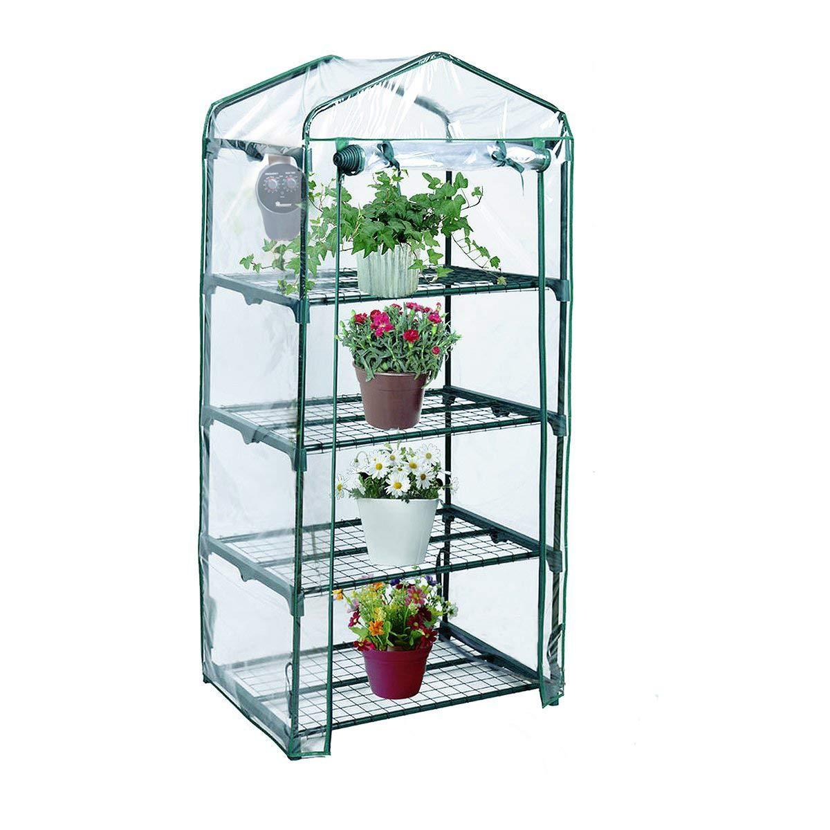 Yardeen 4 Tier Mini Greenhouse Rack Stands Portable Garden for Outdoor & Indoor by Yardeen (Image #1)