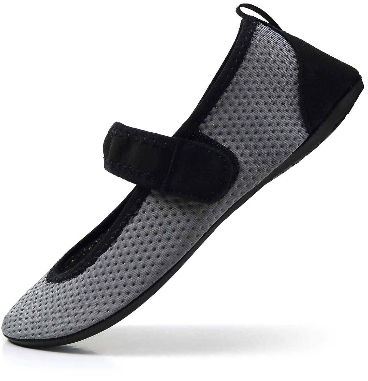 Nzcm Chaussures de Bar Unisexe pour Adulte avec Fermeture Velcro Taille 36-47