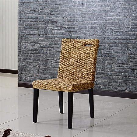 QQXX Silla de Mimbre de jardín, Silla de Comedor de ratán para Restaurante, Mesa de Comedor de ratán para Muebles de Hotel B&B, Adecuada para Muebles de hogar: Amazon.es: Hogar