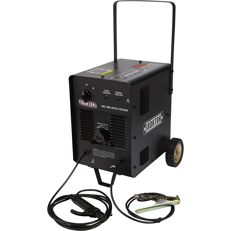 Ironton Arc 200 230 Volt AC Stick Welder - 200 Amp Output