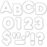 """TREND enterprises, Inc. White 2"""" Casual Uppercase Ready Letters"""