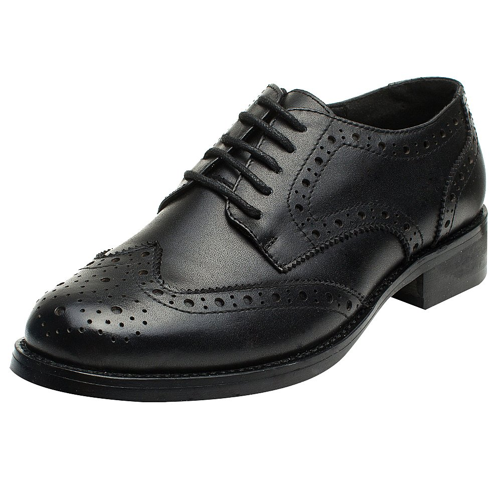 rismart Femme Brogue Femme Pointe Toe Robe Formelle Toe Premier Brogue Cuir Derbies Chaussures Noir 54b865b - piero.space