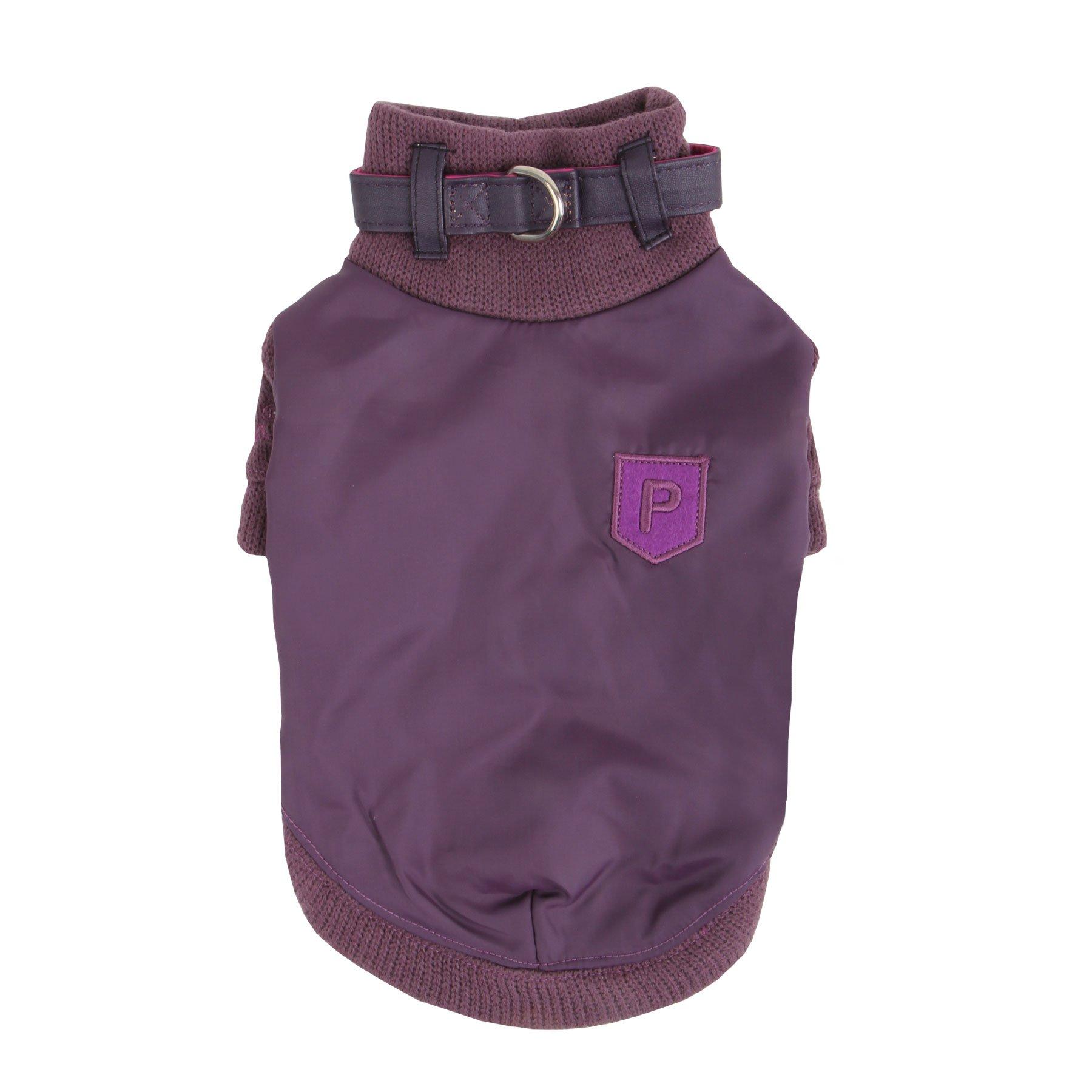 Puppia Tender Turtle Neck Dog Sweater, Small, Purple