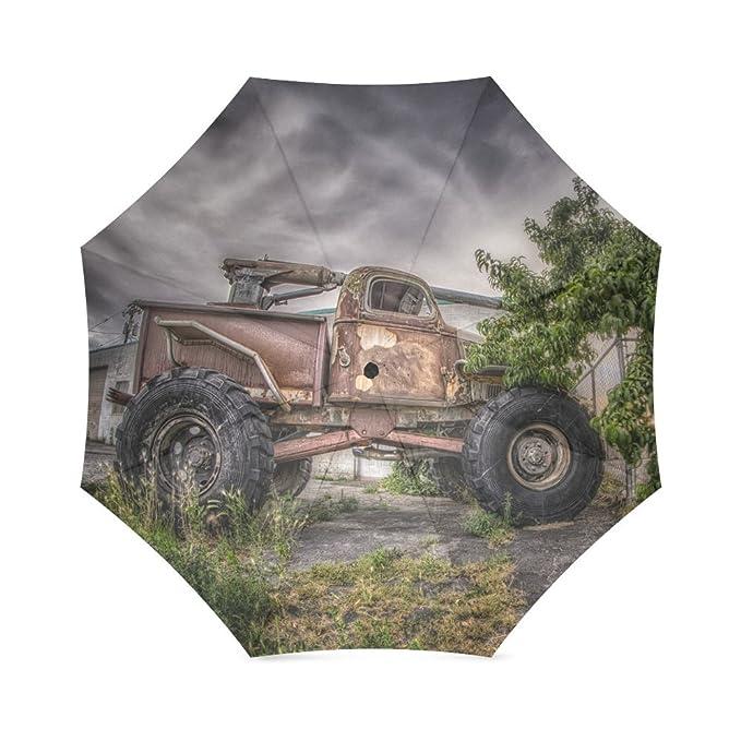 Los amantes de los/esposa/marido Regalos estilo Retro diseño de camión de granja 100% tela y aluminio fretro Styleable paraguas de alta calidad: Amazon.es: ...