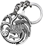 GAME OF THRONES - PORTE CLES MAISON / HOUSE TARGARYEN SILVER COLOR 10 cm