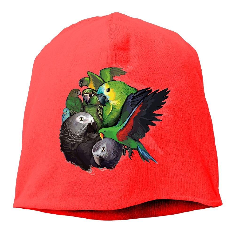 Reteone Fashion Solid Color Parrot Birds Logo Turtleneck Cap For Unisex Royalblue One Size