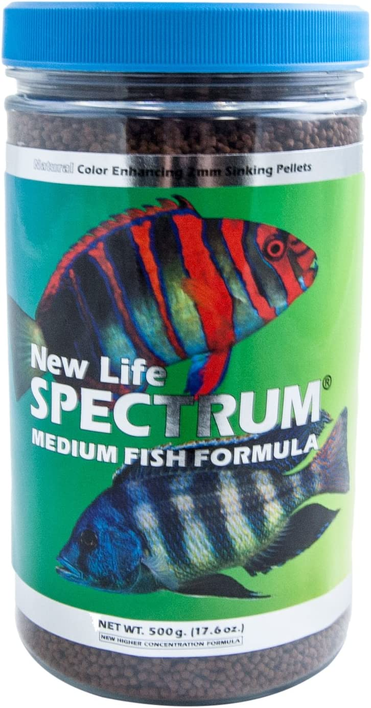 New Life Spectrum Medium Fish Formula 2mm Sinking Salt/Freshwater Pet Food, 500gm