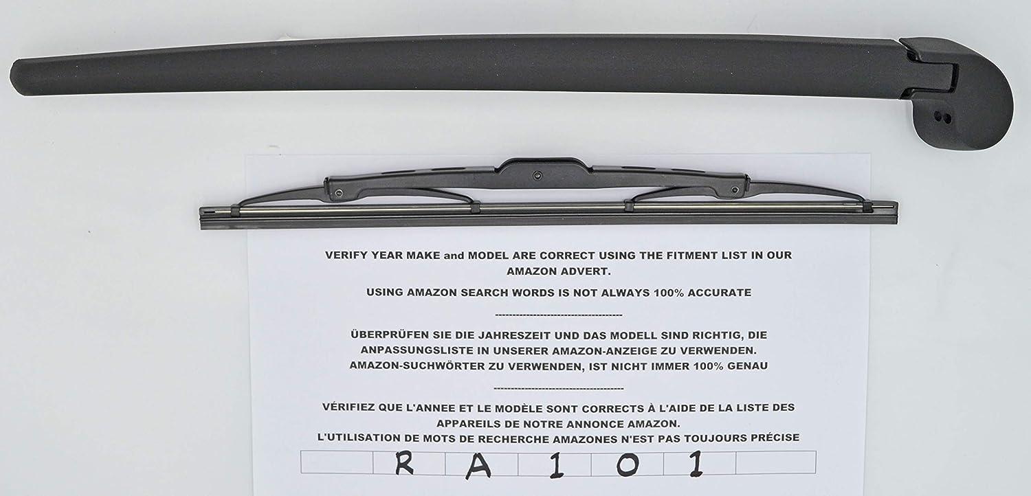 Brazo y escobilla de limpiaparabrisas trasero de ajuste exacto 33 cm RA101: Amazon.es: Coche y moto