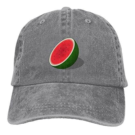 57880130ff7ca Amazon.com  IEHFE Men Women Classic Denim Watermelon Adjustable Baseball  Cap Dad Hat Low Profile Perfect For Outdoor  Clothing
