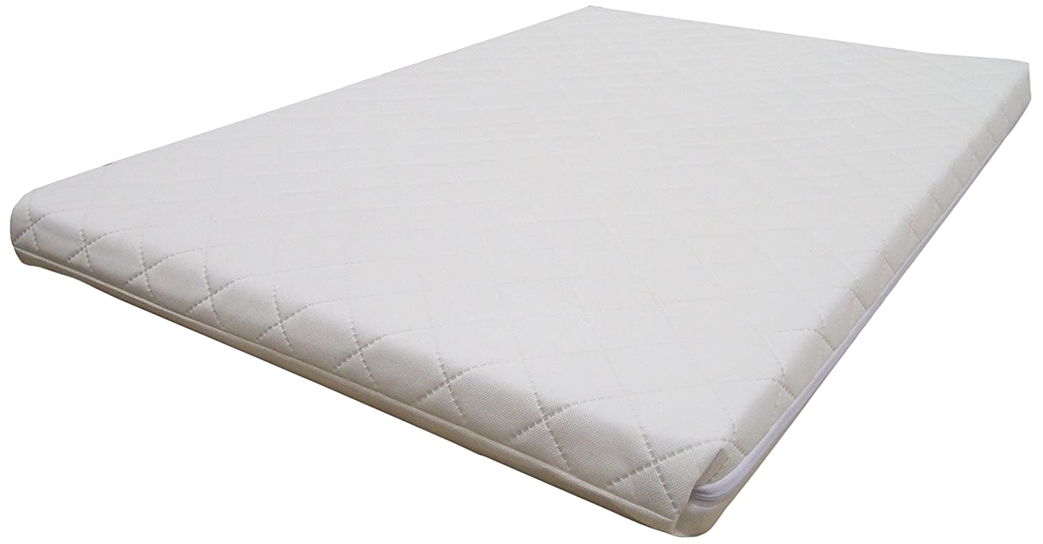 Mother Nurture Deluxe Quilted Travel Cot Mattress, 95 x 65 cm Nursery Connections Limited MN047