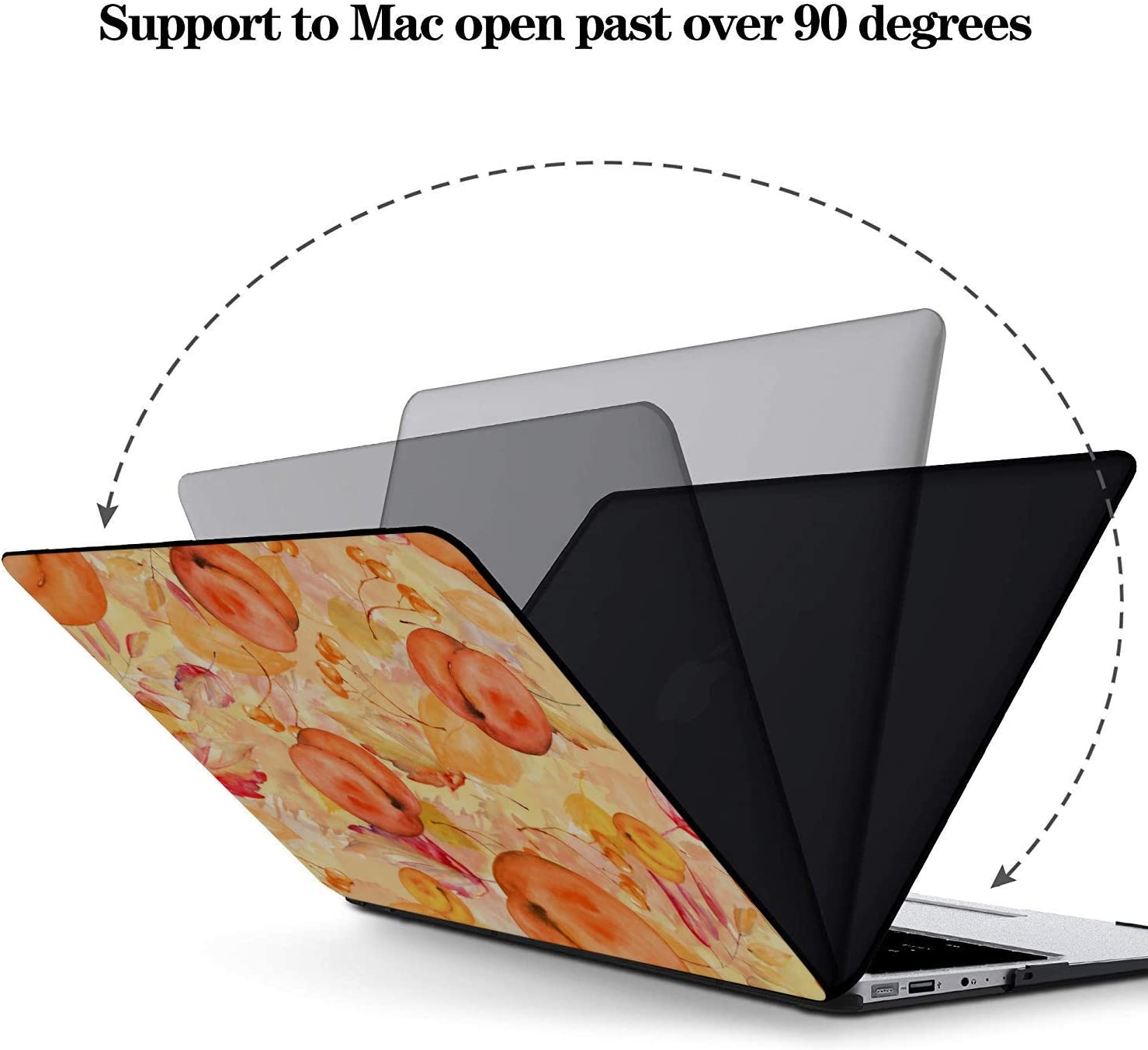 MacBook 15 Case Summer Sweet Fruit Yellow Peach Canned Plastic Hard Shell Compatible Mac Air 11 Pro 13 15 MacBook Pro 2018 Accessories Protection for MacBook 2016-2019 Version