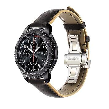 Pour la bande de montre Samsung Gear S3 Frontier / Classic, TRUMiRR 22mm double couleur bracelet en ...
