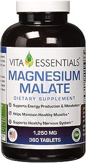 Amazon.com: Alta potencia magnesio Malato 1350 MG 200 ...