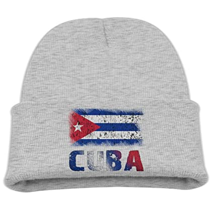 4e3355fea99 Grunge Cuban Flag Unisex Kids Warm Winter Hat Knit Beanie Skull Cap Cuff  Beanie Hat Winter