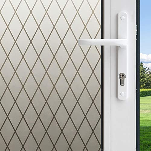 Gila 50188238 Frosted Lattice Decorative Privacy Control Static Cling 36 x 78-INCH 3 6.5 ft. Window Film, 36in x 78in