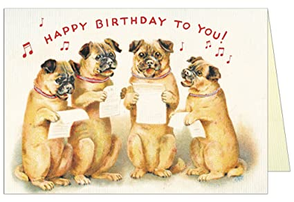 Image Unavailable Not Available For Color Singing Dogs Happy Birthday Greeting Card