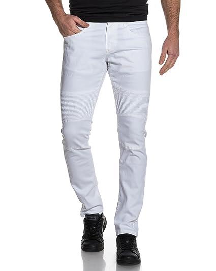 a79acdd238a3 BLZ Jeans - Jean Homme Blanc nervuré - Couleur  Blanc - Taille  FR ...