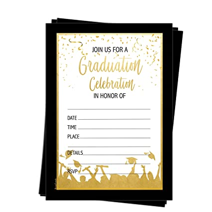 amazon com 25 graduation party invitations graduation
