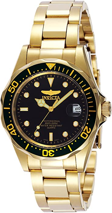 Invicta Mens 8936 Pro Diver Collection 23k Gold Plated Watch