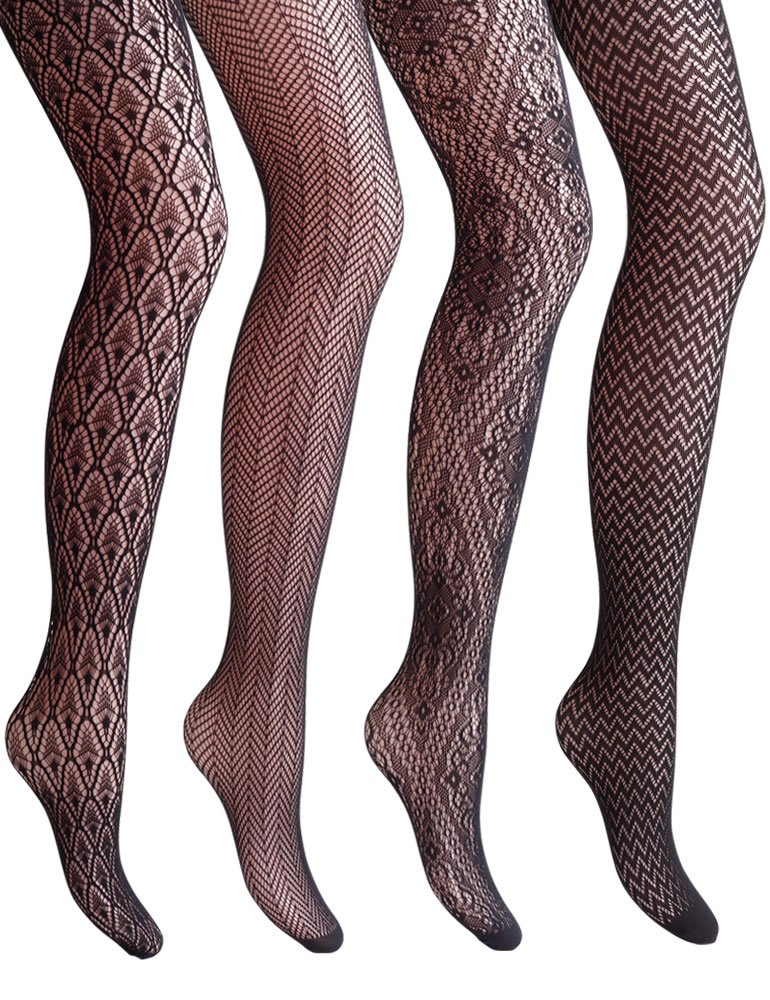 7f94278f6 VERO MONTE 4 Styles Women Fishnet Tights Patterned Fishnets Stockings Small  Hole