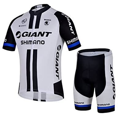 fd29a6cf7 Outdoor Sports Pro Team Men s Short Sleeve Giant Shimano Cycling Jersey and Bib  Shorts Set (
