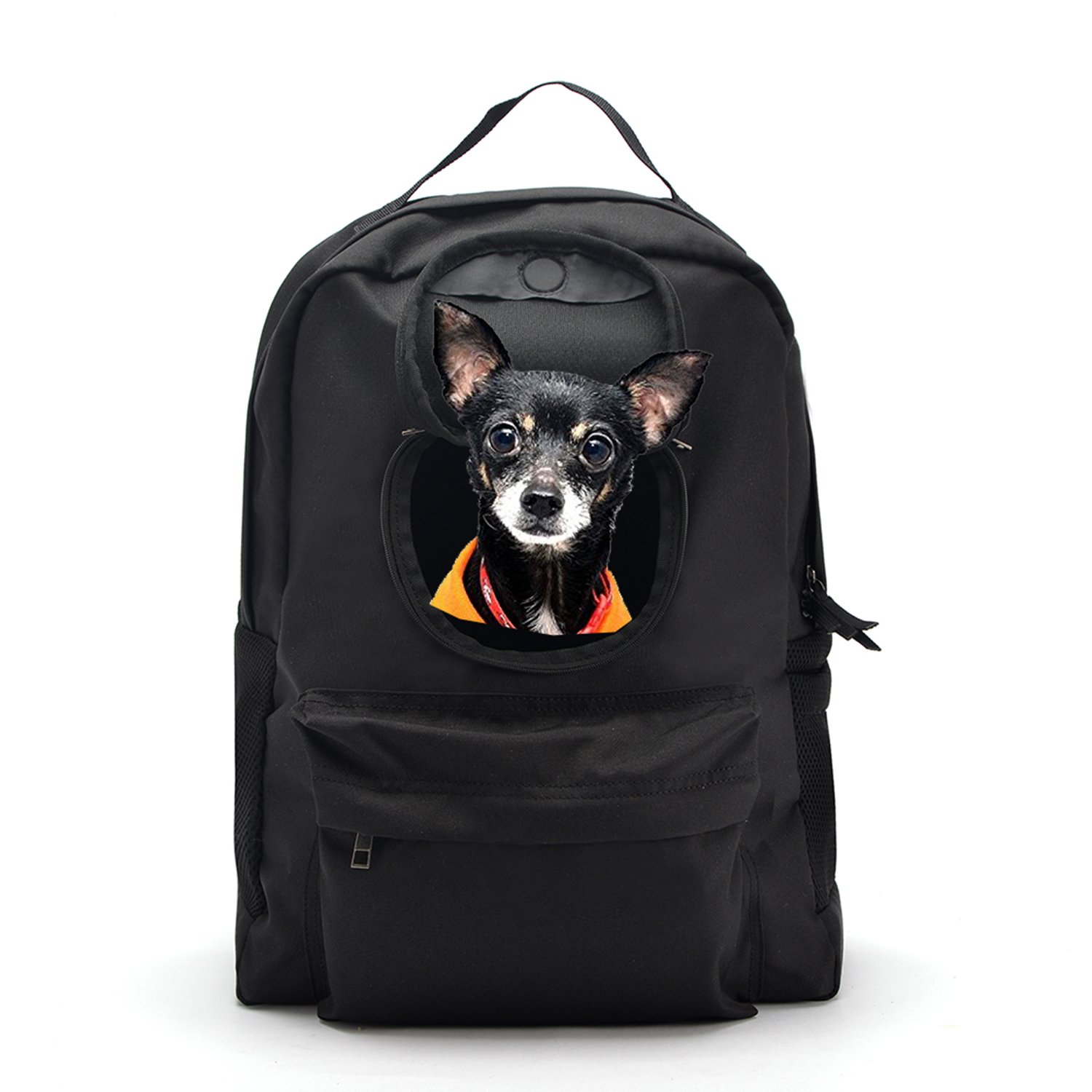 Cat Carrier Backpack, Pet Carrier Backpack for Small Dogs, Classic Concealed for Outdoor Travel - Black (Black)