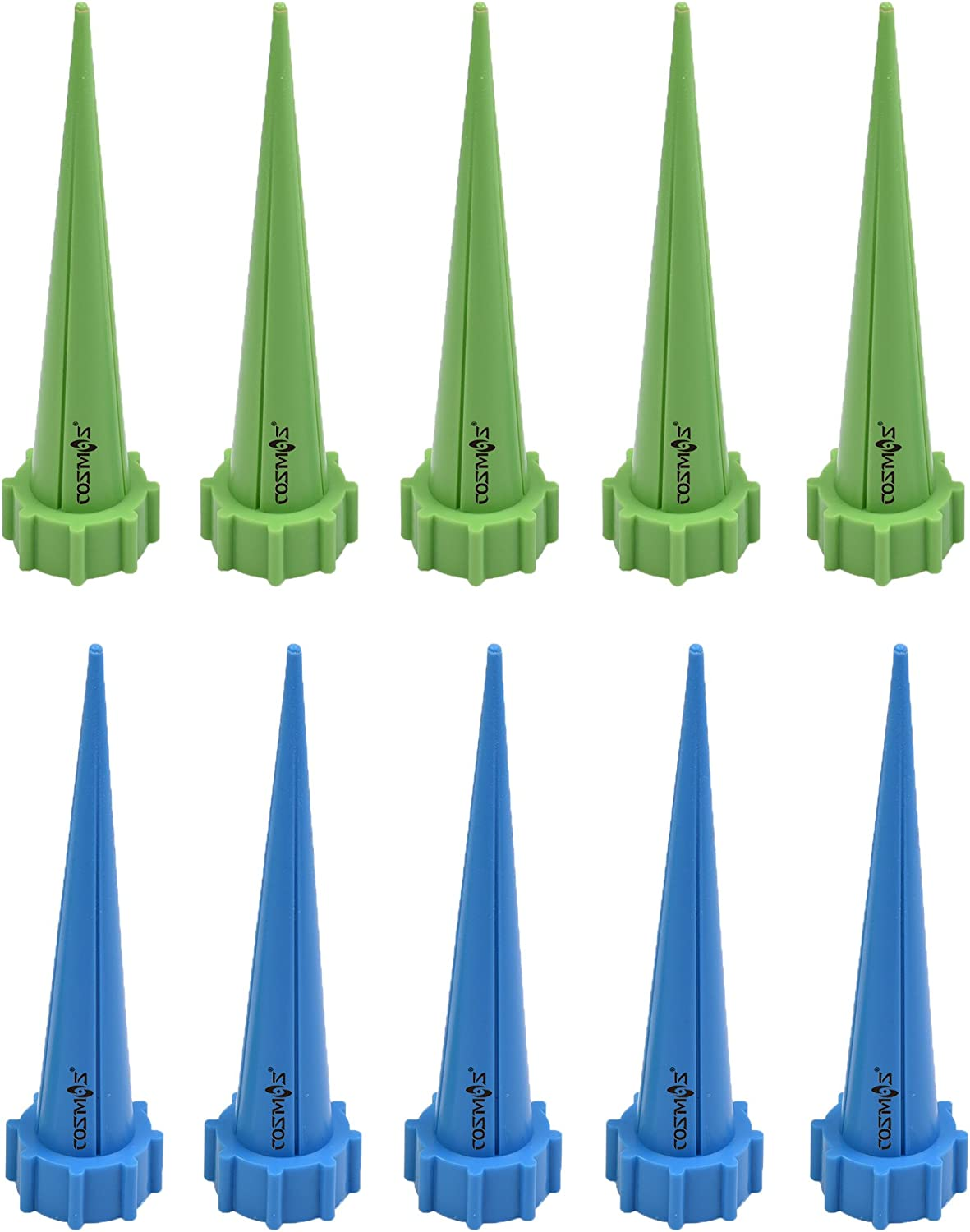 Cosmos Plastic Plant Watering Spikes Water Bottles Economical System (Blue&Green)