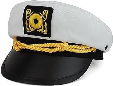 53e173ef3d3 Armycrew Child Size Youth Cotton Yacht Captain Costume Sailor Hat