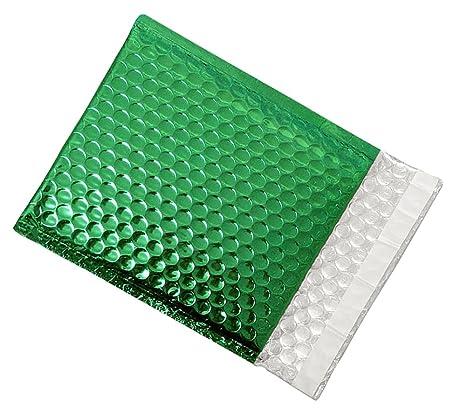 Amazon.com: Sobres de Burbuja color verde metálico de ...