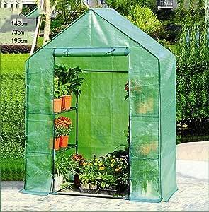 TWS Invernadero Planta Invernadero Verde Plástico Jardín portátil Hogar Invernadero Planta de Flor Patio al Aire Libre cálido Terraza: Amazon.es: Hogar