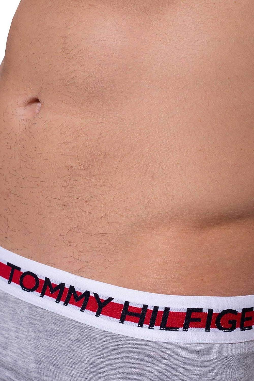 Tommy Hilfiger Calzoncillos con logo de algod/ón org/ánico gris jaspeado