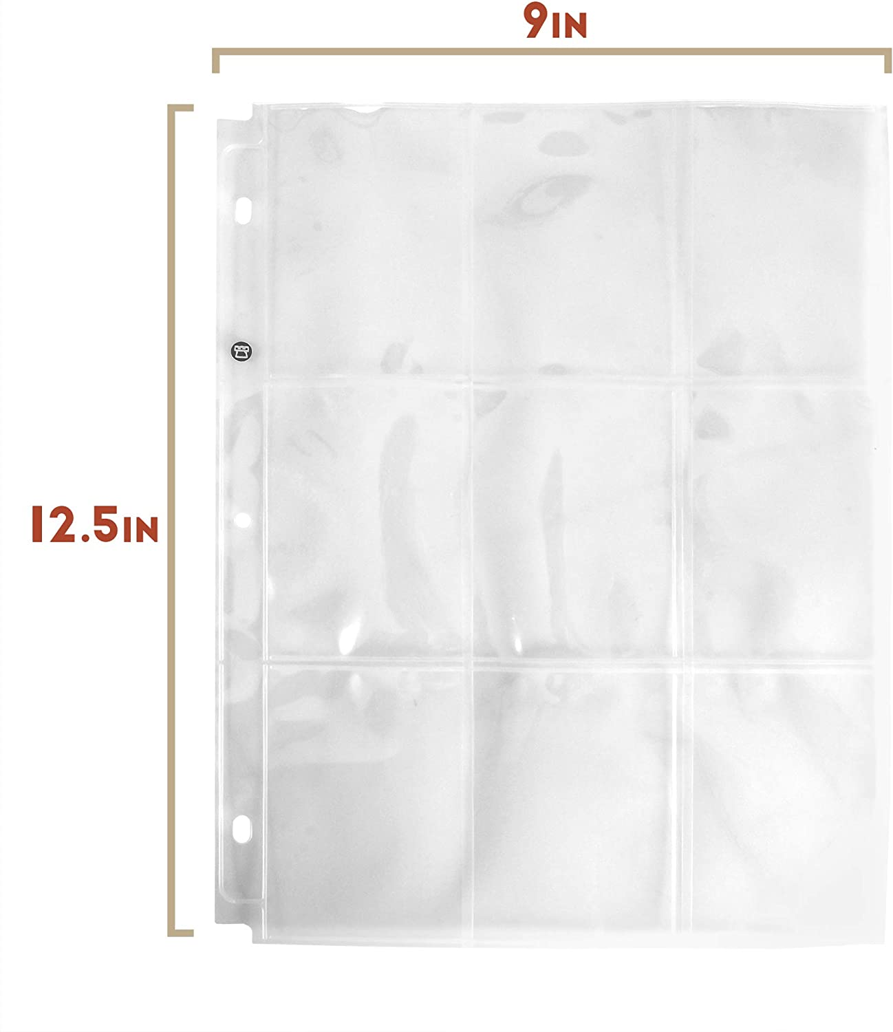 Protective Sleeves for Standard Size Cards and Collectible Card Games  Acid-Free Transparent Plastic Sheets for 3-Ring Trading Card Binders TCGs 9-Pocket Trading Card Pages Sports Side-Load
