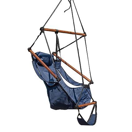 Island Retreat NU3200 Hanging Hammock Chair Swing, Blue