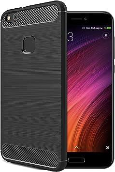 Xiaomi MI 5C Funda, Estuyoya Silicona [Efecto Carbono] funda ...